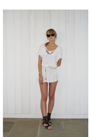 dress - forever 21 shoes - sunglasses