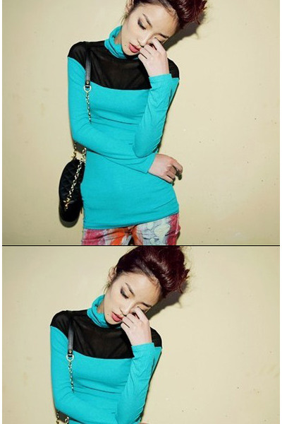 aquamarine sheer blue Cheap Monday blouse