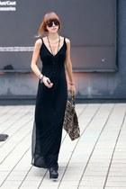 black sheer black Alexander Wang dress - dark gray Dolce Vita shoes