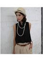 Beige-forever-21-hat-black-vintage-blouse-bronze-dolce-vita-wedges