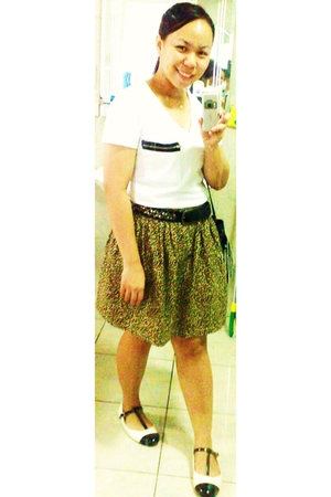 bought in Korea top - Zara belt - stefanel italia skirt - Dorothy Perkins shoes