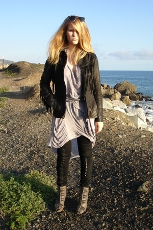 All Saints jacket - raquel allegra dress - Cheap Monday pants - sam edelman shoe