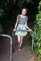 River Island skirt - crop new look top - braided new look sandals