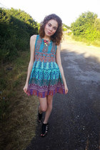 Band of Gypsies dress - new look necklace - new look sandals