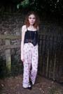 River-island-pants-new-look-necklace-flatform-next-pumps-crop-new-look-top