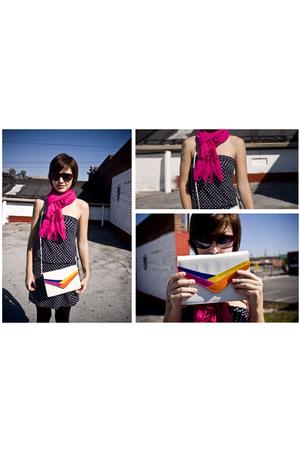 scarf - dress - stockings - purse