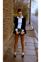 Primark blazer - Mango shirt - asos bag - new look wedges - Dorothy Perkins pant