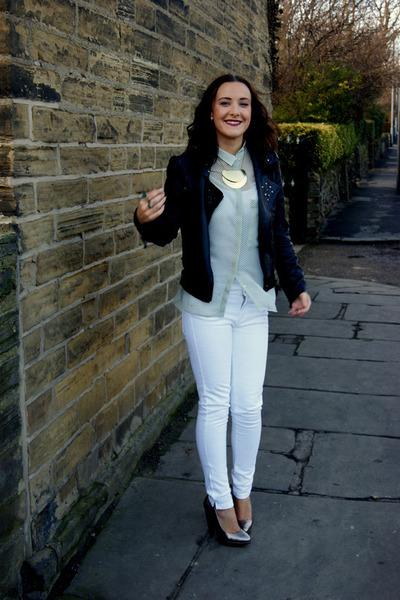 Zara jeans - Matalan jacket - Zara blouse - Aldo heels - Asda necklace