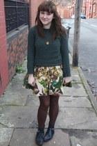 Urban Outfitters dress - green Zara jumper