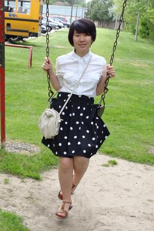 H&M skirt - sears shirt - sears shoes - H&M purse