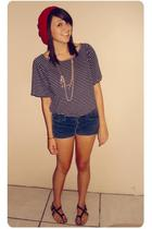 Swapmeet hat - Forever21 necklace - Urban Outfitters blouse - Forever21 shorts -