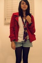 Ezekiel coat - American Apparel t-shirt - Urban Outfitters scarf - Forever 21 sh