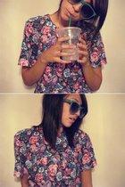 vintage shirt - santi alley glasses