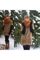 diy fur coat - diy headband hat