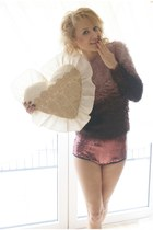ombre SH sweater - sequin Topshop shorts