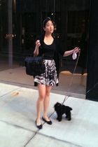 black PROENZA SCHOULER purse - black Chanel shoes - skirt - Forever21 accessorie