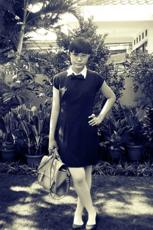 dress - cole shirt - tights tights - black flats flats