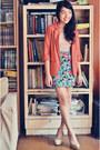 Light-pink-forever-21-dress-burnt-orange-topshop-blazer