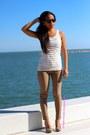 Ray-ban-sunglasses-pants-blouse-heels