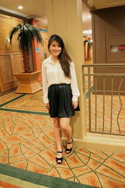 Forever 21 skirt - Forever 21 blouse - asos wedges