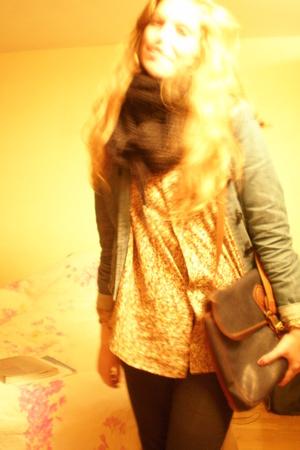 weekday jacket - Vintage Montmartre shirt - Vintage Episode scarf - Mulberry gra