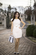 python christian dior bag - color block Chanel shoes - cream Fendi dress