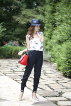Joie shoes - rag & bone hat - Celine bag - Chaser top - BCBG pants