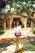tandy shoes - Chanel bag - Lilly Pulitzer shorts - Tibi top