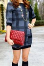 Christian-louboutin-boots-sweater-dress-juicy-couture-dress