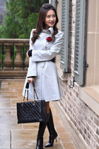 armani coat - Chanel bag