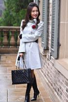 armani coat - Chanel bag