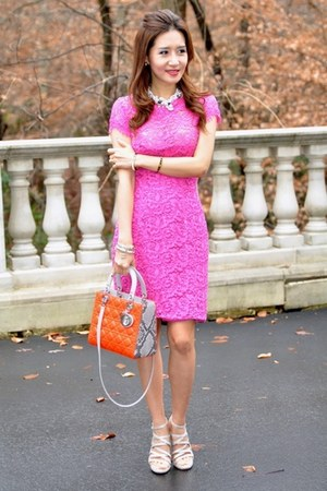 christian dior bag - Diane Von Furstenberg dress