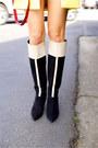 Derek-lam-boots-vince-dress-zara-coat-prada-bag