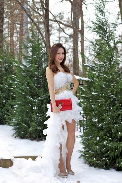 gown Sherri Hill dress - Jimmy Choo shoes - clutch Christian Louboutin bag
