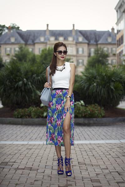 Topshop skirt - Steve Madden shoes - Chanel bag - Valentino sunglasses