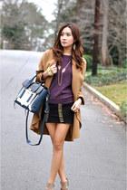 PAUW coat - Michael Kors shoes - 31 Phillip Lim bag - Bebe skirt