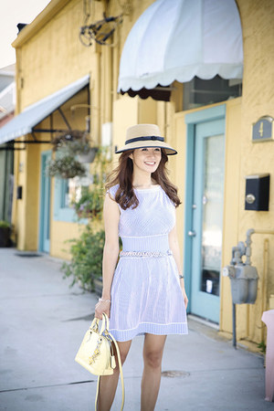 Eric Javitz hat - Joie shoes - Chanel dress - Louis Vuitton bag