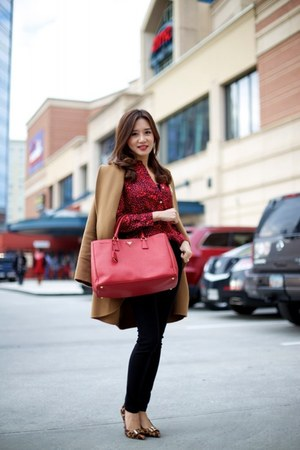 Prada bag - tory burch shoes - PAUW coat - Juicy Couture blouse - vince pants