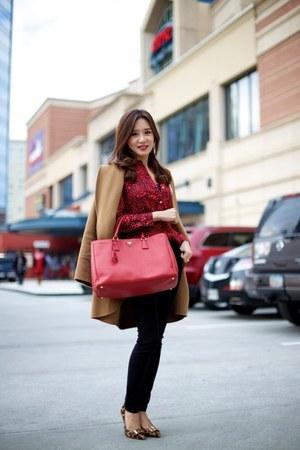 Prada bag - tory burch shoes - PAUW coat - Juicy Couture blouse - vince pants
