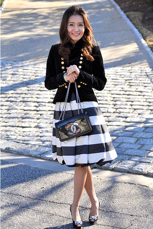 PAUW skirt - PAUW jeans - Chanel bag - Jimmy Choo pumps
