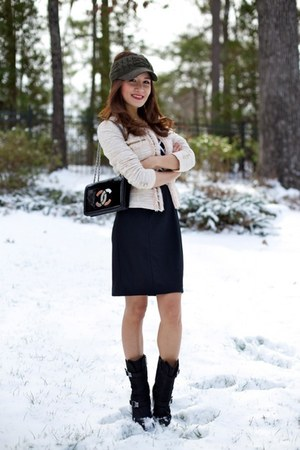 Jigott blazer - Baldinini Taend boots - White House Black Market dress