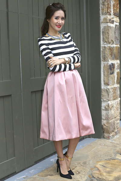 Topshop skirt - Zara shoes - statement bcbg max azria necklace