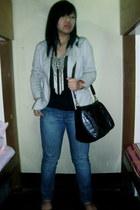 What A Girl Wants necklace - maldita blazer - Bayo flats