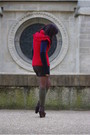 Red-miss-selfridge-jumper-brown-vanessa-bruno-shoes-brown-zara-shorts
