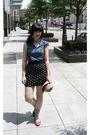 Beige-target-hat-blue-forever-21-shirt-black-forever-21-skirt-gray-target-