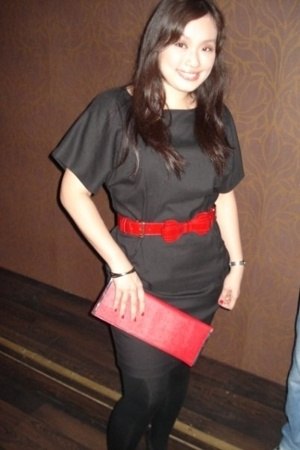 Zara dress - YSL belt - maldita purse - Promod leggings - Zara shoes