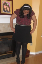 H&M blouse - idk belt - James Perse skirt - From Sterling shoes