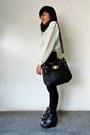Black-bench-jeans-black-parisian-wedges
