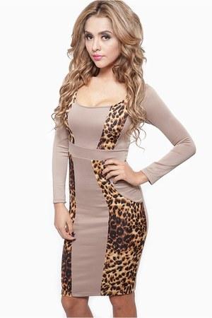 tan cicihot dress