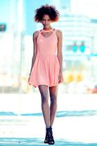 pink cutout doll cicihot dress